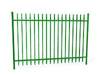 Забор металлический ОЗ-64 эскиз