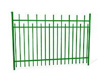 Забор металлический ОЗ-66 эскиз