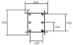 Вид сверху закладной детали для тренажера на 6 креплений, превью