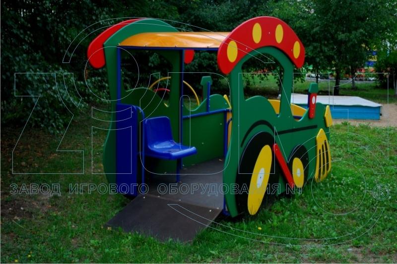 Въезд для колясок в игровой макет «Паровоз»
