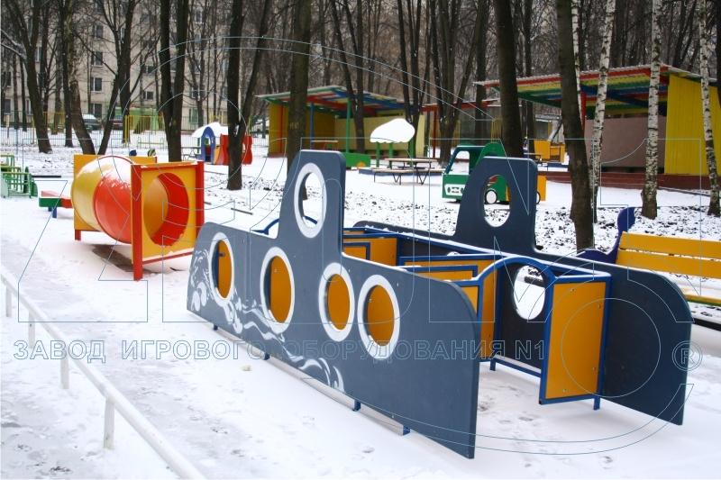 Лабиринт «Подводная лодка» в составе детской полосе препятствий