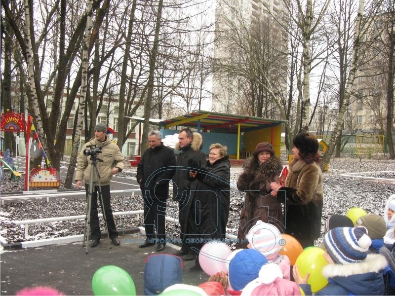Церемония открытия детского автогородка в ДОУ№2649