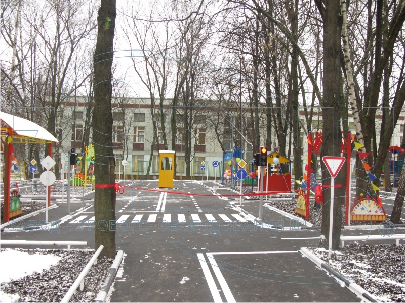 Общий вид площадки автогородка в ДОУ №2649