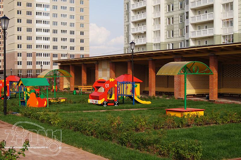 Фото прогулочной детской площадки детского сада