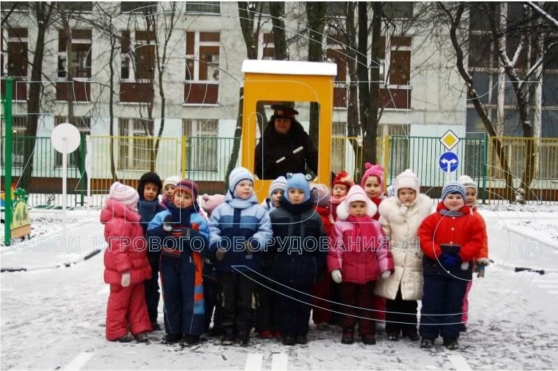 Фото детского автогородка ГОУ ДОУ 2649