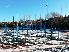 Общий вид воркаут-площадки в Горках-10 (Одинцовский район)