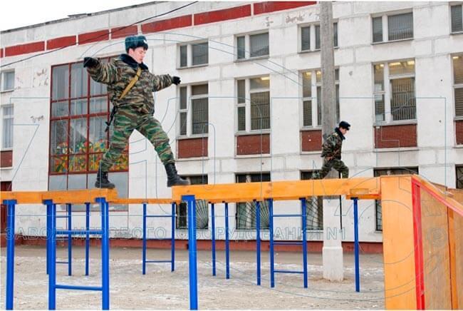 Фотографии полосы препятствий ГОУ СОШ 667 г.Москвы. Производство ЗАО «ЗИОН1»